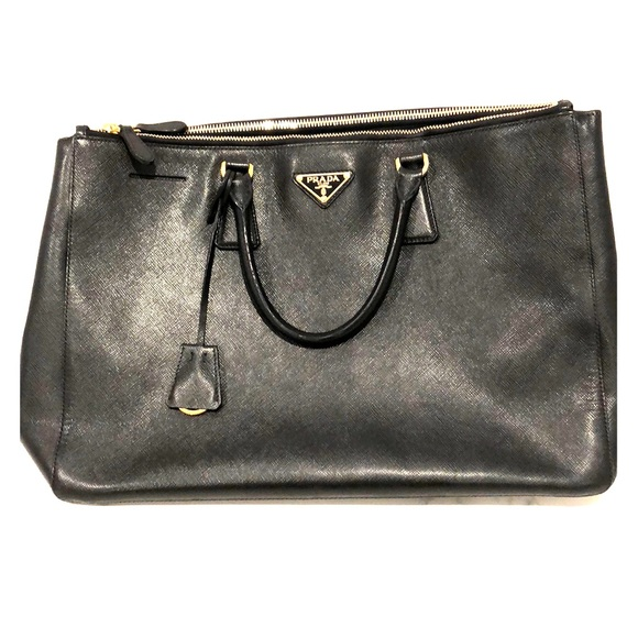 6fb7a590269b Prada Bags | Authentic Saffiano Double Zipper Tote Bag | Poshmark
